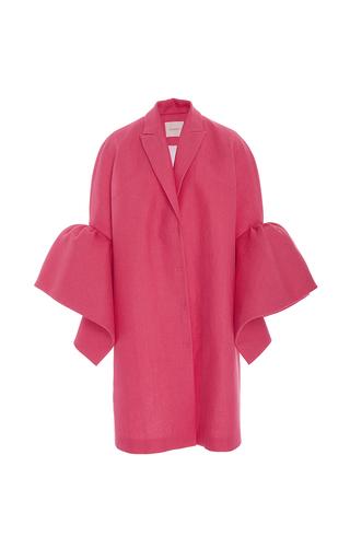 Medium delpozo fuchsia coat with frill sleeves