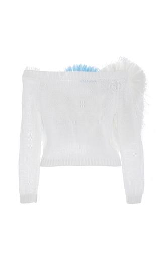 Fringe Front Sweater by DELPOZO for Preorder on Moda Operandi
