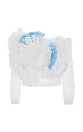 Medium delpozo multi fringe front sweater