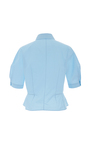 Short Sleeve Collared Blouse by DELPOZO for Preorder on Moda Operandi