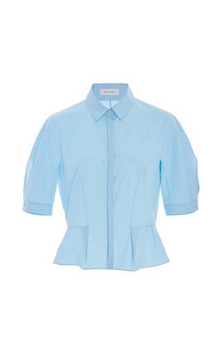 Medium delpozo light blue short sleeve collared blouse
