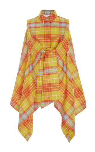 Medium delpozo multi sleeveless checkered jacket