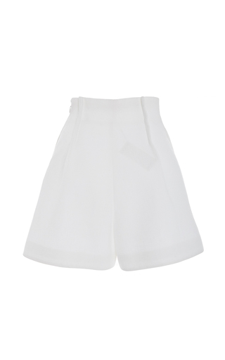 High Waisted Satin Shorts by DELPOZO for Preorder on Moda Operandi