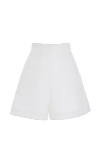 Medium delpozo white high waisted satin shorts
