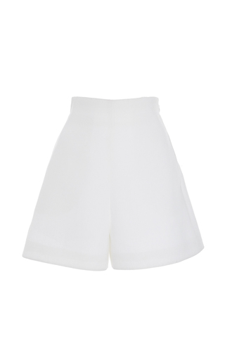Medium delpozo white high waisted satin shorts