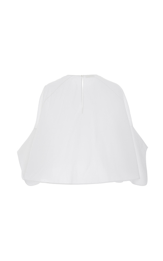 Flutter Sleeves Poplin Top by DELPOZO for Preorder on Moda Operandi