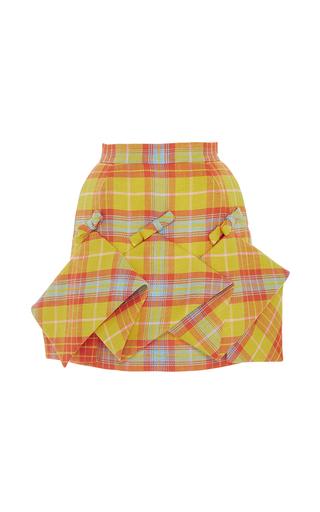 Medium delpozo multi panel checkered mini skirt