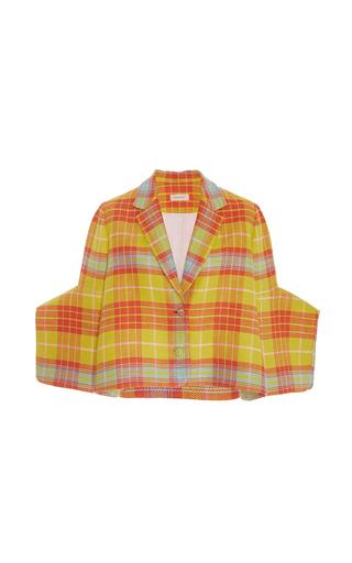 Medium delpozo multi short checkered jacket