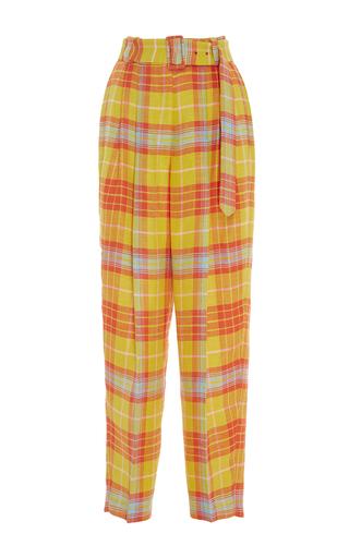 Medium delpozo multi checkered pleated trousers