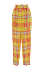 Checkered Pleated Trousers by DELPOZO for Preorder on Moda Operandi