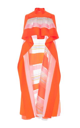Medium delpozo multi sleeveless striped organza top