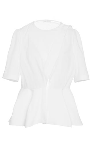 Medium delpozo white crossed poplin shirt