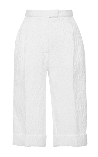 Medium delpozo white high waisted bermuda shorts 2