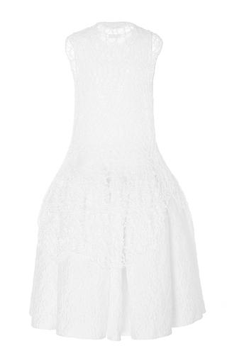 Sleeveless Drop Waist Knit And Cotton Dress by DELPOZO for Preorder on Moda Operandi