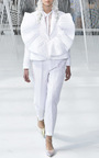 High Waisted Textured Trousers by DELPOZO for Preorder on Moda Operandi