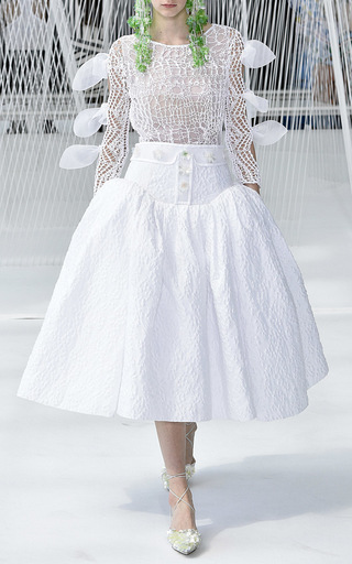 Textured Low Waist Skirt by DELPOZO for Preorder on Moda Operandi