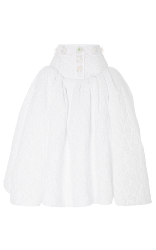 Medium delpozo white textured low waist skirt