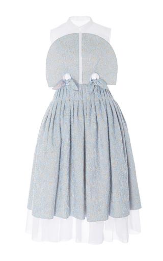 Medium delpozo multi organdi and jacquard sleeveless dress