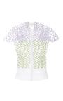 Short Sleeve Textured Blouse by DELPOZO for Preorder on Moda Operandi
