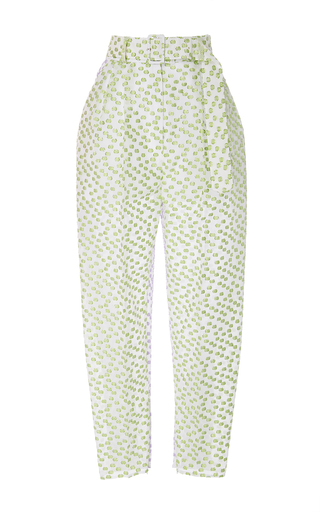 Medium delpozo multi textured high waisted trousers