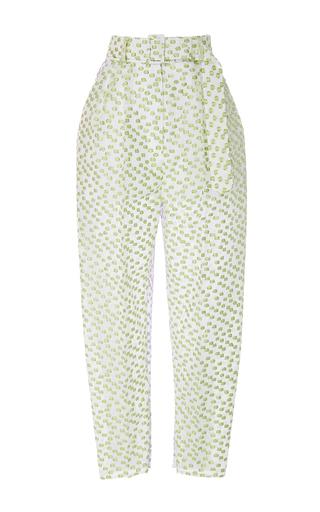 Medium delpozo multi textured high waisted trousers