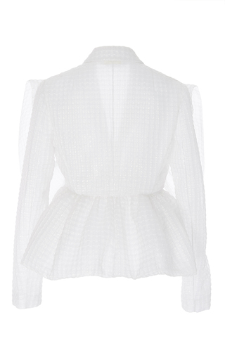 Textured Jacket With Frills by DELPOZO for Preorder on Moda Operandi