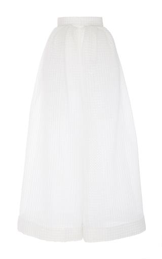 Medium delpozo white wide legged textured trousers