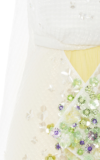 Tulle Skirt Embellished Dress by DELPOZO for Preorder on Moda Operandi