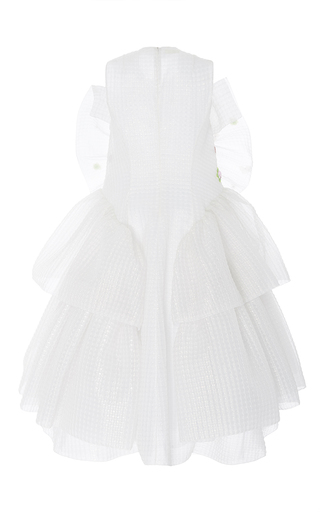 Sleeveless Triple Layered Frill Dress by DELPOZO for Preorder on Moda Operandi