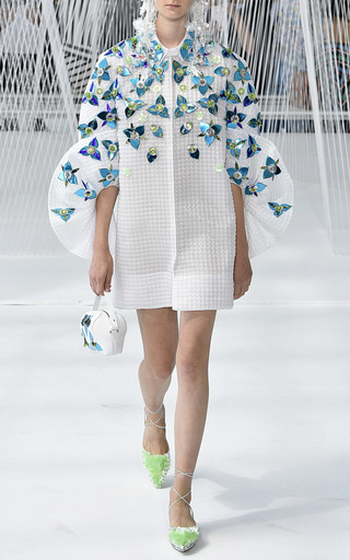 Embellished Coat With Frills by DELPOZO for Preorder on Moda Operandi