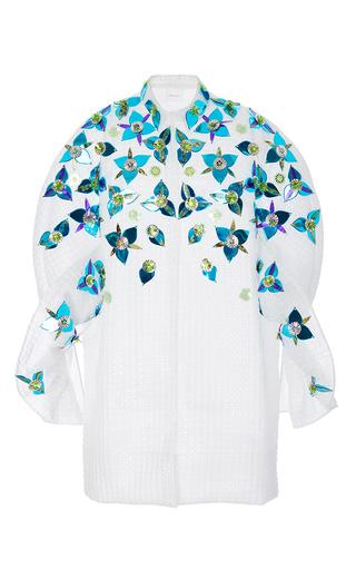 Medium delpozo multi embellished coat with frills