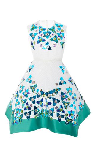 Medium delpozo multi sleeveless embellished a line dress