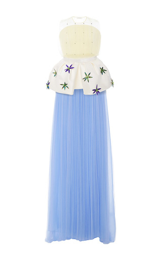 Medium delpozo multi sleeveless tulle dress with embellishment