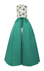 Sleeveless Embellished Satin Dress by DELPOZO for Preorder on Moda Operandi