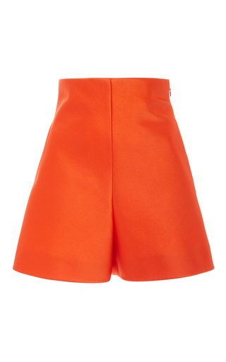 Medium delpozo orange high waisted satin shorts 2