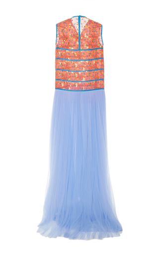 Sleeveless Embroidered Tulle Gown by DELPOZO for Preorder on Moda Operandi