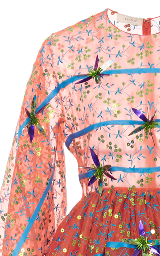 Asymmetrical Embroidered Gown by DELPOZO for Preorder on Moda Operandi