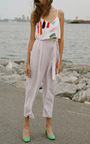 Embroidered Crop Camisole by MARA HOFFMAN for Preorder on Moda Operandi