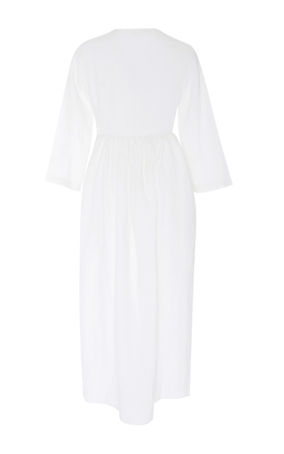 Embroidered Open Front Midi Dress by MARA HOFFMAN for Preorder on Moda Operandi