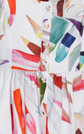 Button Front Printed Midi Dress by MARA HOFFMAN for Preorder on Moda Operandi