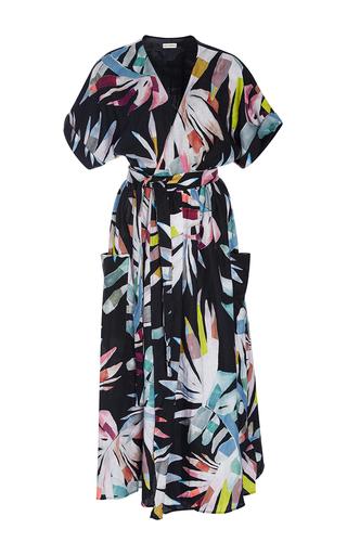 Medium mara hoffman print short sleeve printed wrap dress