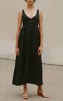 Lace Up Midi Dress by MARA HOFFMAN for Preorder on Moda Operandi