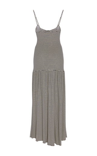 Sleeveless Multi Striped Midi Dress by MARA HOFFMAN for Preorder on Moda Operandi