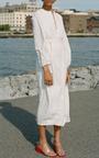 Three Quarter Sleeve Peasant Dress by MARA HOFFMAN for Preorder on Moda Operandi