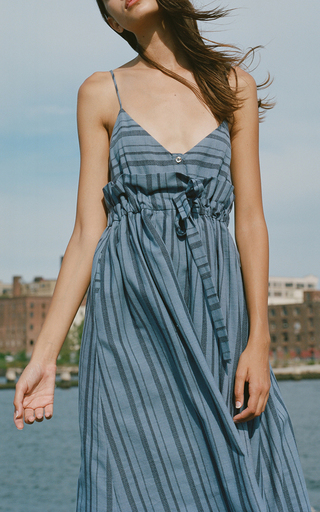 Striped Midi Tank Dress by MARA HOFFMAN for Preorder on Moda Operandi