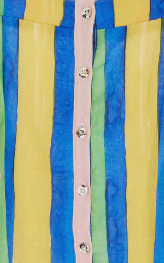 Rainbow Button Front Sheath Dress by MARA HOFFMAN for Preorder on Moda Operandi