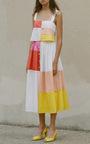 Patchwork Midi Skirt by MARA HOFFMAN for Preorder on Moda Operandi