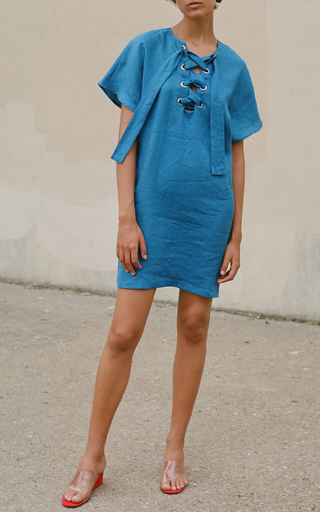 Lace Up Mini Dress by MARA HOFFMAN for Preorder on Moda Operandi