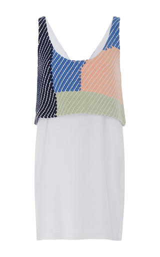 Woven Tank Mini Dress by MARA HOFFMAN for Preorder on Moda Operandi