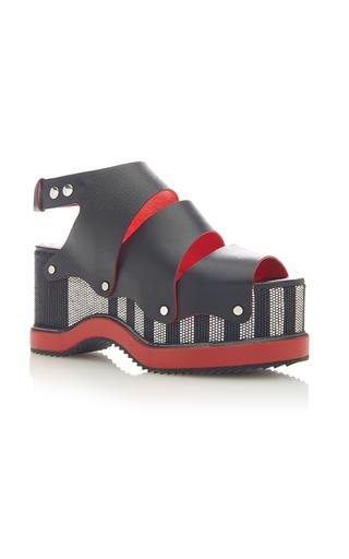 Medium proenza schouler black leather platform sandals